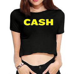 TLK Custom Women The Clash Punk Band Logo Crop Top ** Click image for more details. (This is an affiliate link and I receive a commission for the sales) Hill Logo, Girls Crop Tops, Nursing Wear, Cotton Crop Top, Crop Top Shirts, Band Shirts, Short Tops, Maternity Fashion, Nice Tops