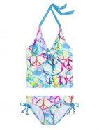 Peace Sign Tankini Swimsuit