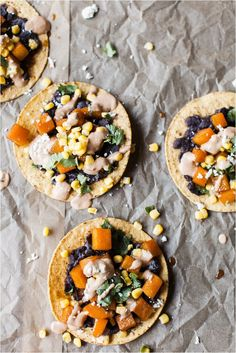 Butternut Squash & Black Bean Tostadas with Chipotle Lime Sauce ...