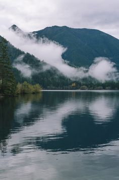 Moody Nature — millivedder:   Lake Crescent Reflections   Prints