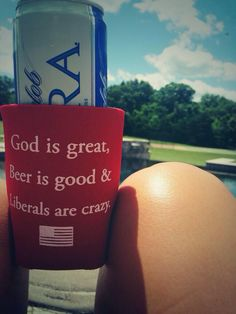 Use Code PoliticalPearls for 10% off your order!  Liberals Are Crazy Koozie - FutureFirstLady.net