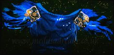 Electric Blue Feather Epaulettes (By @Ooh Outre)
