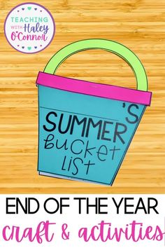 The End of the Year can be incredibly stressful...but having the right tools can make it so much easier! This Summer Bucket List Craft and Activities Pack is perfect to wrap up your year and send your students home to have a successful summer - all in printable format! | First Grade Resources | Printable Lesson Plans | End of Year Lesson Plans |