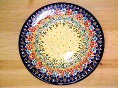 Polish Pottery 9-inch Pasta Bowl   Boleslawiec Stoneware   Polmedia H3486H   Polmedia