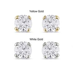 @Overstock - Dot a bit of sparkle on your lobes with these diamond stud earrings. These darlings are perfect for adding an understated elegance to your air when you have your hair up, dressed in your tees and jeans. The white or yellow gold settings spell class.http://www.overstock.com/Jewelry-Watches/Miadora-14k-Gold-1-4ct-TDW-Diamond-Stud-Earrings-J-K-I2-I3/3481476/product.html?CID=214117 $99.99