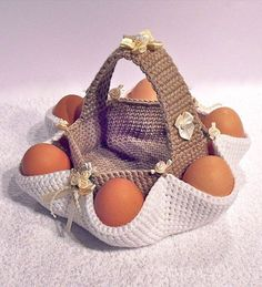 Easter egg hunt basket - Crochet pattern - PDF file by Sharapova