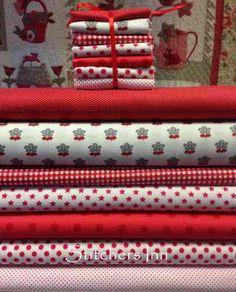 Paquete de telitas coordinadas - Tonos rojos