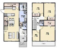 間取り 30坪 Japan Architecture, Small Studio, Social Media Design, House Plans, Floor Plans, How To Plan, City, Interior, Home Decor