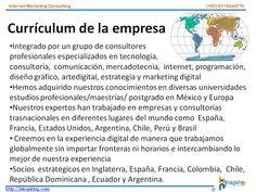 Currículum de la Empresa  contacto@uinspiring.com http://uinspiring.com/