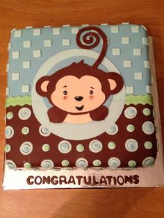 Monkey Cake!!! Doing this to match Brittany's plates :)
