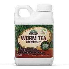 PetraTools Worm Tea (128 fl oz) — PETRATOOLS Compost Tea, Bokashi, Plant Health, Liquid Fertilizer, Earthworms, Outdoor Plants, Houseplants, Backyard, Organic