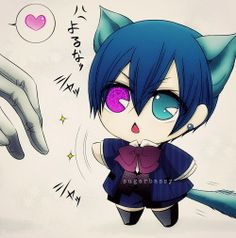 Who could resist!?!? Ciel is just too adorable chibi or not! But a chibi neko........(fangirling)