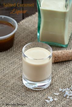 How to make a deliciously creamy Salted #Caramel #Liqueur at home!