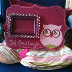 "Wall art picture frame ""Owl Always Love You"""