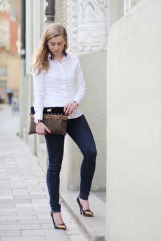 #Stilstueck clutch, #Dolzer blouse & #JaimieJacobs pumps