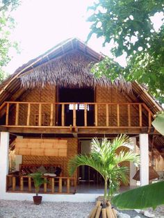 Tropical house design philippines - House and home design Bamboo House Plant, Bamboo House Design, Tropical House Design, Simple House Design, Bungalow House Design, Tropical Houses, Cool House Designs, Modern House Design, Bungalow Homes