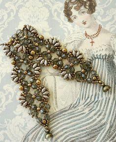 """Linda's Crafty Inspirations: Bracelet & Earrings Set - Flutter & Marquesa 11/0 seed beads Miyuki """"Dark Bronze"""" (11-457D) 8/0 seed beads Miyuki """"Dark Bronze"""" (8-457D) SuperDuo beads """"Pearl Coat Brown Sugar"""" 4mm bicones """"Greige - #C24"""" (Beads One) 3mm druks """"Bronze"""" 4mm druks """"Bronze"""""""