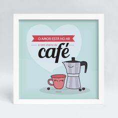 Quadro+com+ilustração+amor+e+café