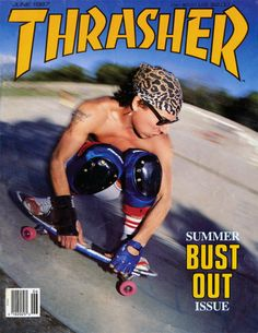 A few days ago I was at my parents' house and they gave me a short stack of old Thrasher Magazines they'd found in my old bedroom. #thrasher #skateboard #magazine