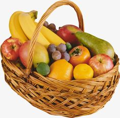 Fruit Clipart, Fruits And Vegetables, Gifs, Basket Gift, Png Photo, Food, Baskets, Nature, Beautiful
