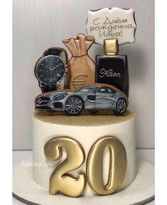 Ideas Cupcakes Cakes For Men Brithday Cake, Birthday Cakes For Men, Birthday Cupcakes, Buttercream Cake, Fondant Cakes, Cupcake Cakes, Cake Cookies, Cupcakes For Men, Fun Cupcakes