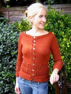 Ravelry: Chunky Fudge Lace Cardigan pattern by LInda Wilgus