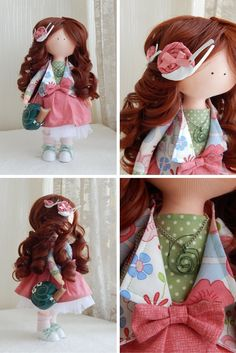 Handmade doll Fabric doll Tilda doll brown by AnnKirillartPlace