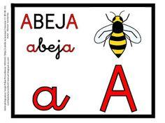 CARTILLA DE LECTURA INFANTIL : ABECEDARIO COLOR Signs, Gabriel, To Tell, Shape, Frases, Vestidos, Preschool Alphabet Activities, Education Posters, Spanish Alphabet