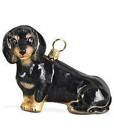 Joy to the World Black Dachshund Pet Charity Ornament