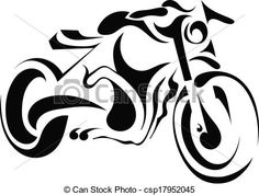 Illustration of Black silhouette of a motorcycle on a white background vector art, clipart and stock vectors. Motorcycle Tattoos, Motorcycle Art, Stencil Art, Stencils, Motorbike Drawing, Harley Davidson, Wood Burning Patterns, Black Silhouette, Scroll Saw Patterns