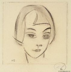 Finnish National Gallery - Art Collections - Helene Schjerfbeck - Head of a Girl, 1928 Photographer: Finnish National Gallery / Hannu Aaltonen