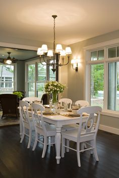 Love love the ceiling fan! The dining rm chandelier is pretty too!