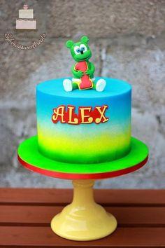 Gummy Bear cake - Cake by Sylwia Bear Birthday, 4th Birthday, Birthday Cake, Birthday Ideas, Gummy Bear Cakes, Best Gummy Bears, Vegan Gelatin, Bear Party, Colorful Cakes