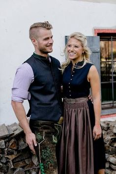 3732de1cee Beautiful dirndl and vests in the partner look of thank God - Famous    Fashion!