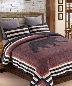 Look what I found on #zulily! Hiawatha Bear Patchwork Quilt Set by Duke Imports, Inc. #zulilyfinds