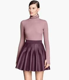 H&M Leather Circle Skirt