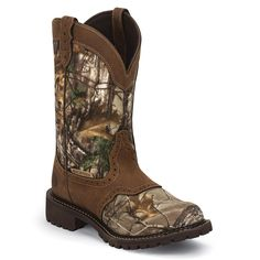 Justin Women's Camo Gypsy Waterproof Work Boots