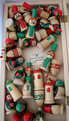 Matryoshka Doll Chess Set from Russia  Vintage by ChristineRenee4