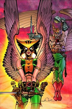 Hawkgirl and Hawkman by Walter Simonson