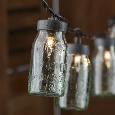 Small Glass Mason Jar Light Covers: Are you kidding me? Are these even real?! In love.