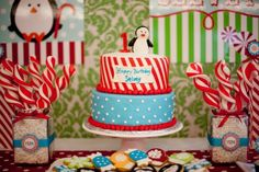 Ideas for E's b-day! I wanted to do Winter Onederland but never thought of doing it this way!