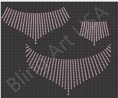 Necklace Rhinestone Design Template Download