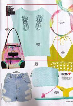 COSMOPOLITAN  The Hip Tee Primark, Topshop, Cosmopolitan, Drawstring Backpack, Tote Bag, Blog, Fashion, Head Bands, Moda