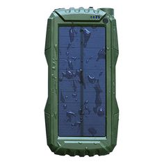Solar Charger Solar Power Bank External Backup Battery Charger with Dual USB Port for iPhone,Samsung and More(green) Solar Phone Chargers, Solar Charger, Boombox, Solar Power, Like4like, Special Deals, Woodworking Jigs, Digital, Coupon