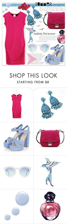 """""""Summer Brights"""" by tanjakr ❤ liked on Polyvore featuring T-Bags Los Angeles, Proenza Schouler, MARBELLA, Topshop and Christian Dior"""