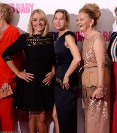 Three's company: (L-R) Novelist Helen Fielding, actress Renee Zellweger and…
