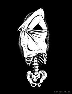 Black Wallpaper Skull Skull Heads: Photo In My Skin. Halloween Wallpaper Iphone, Skull Wallpaper, Dark Wallpaper, Art Sketches, Art Drawings, Skeleton Art, Skeleton Drawings, Arte Obscura, Arte Horror