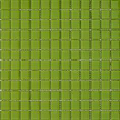 MOSAICOS DE CRISTAL: CRISTAL VERDE LIMÓN 30x30 cm