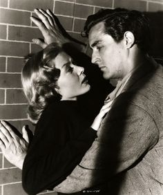 Gloria Grahame, Vittorio Gassman, The Glass Wall, vintage, 1953.