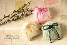 Fine persimmon color to the fragrance sachet bag ~~: Naver blog